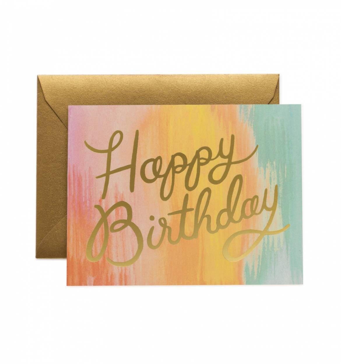 Pastell Birthday Card